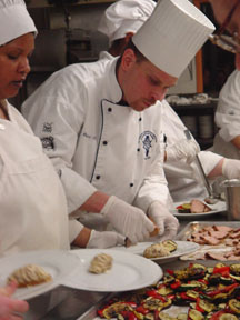 Chef Tim Bucci, Cooking and Hospitality Institute of Chicago, Real Ale Feast, photo by Lucy Saunders