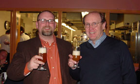 Greg Hall (left) and John Hall (right) the brewing dynasty behind Goose Island Brewery, Chicago - photo by Lucy Saunders