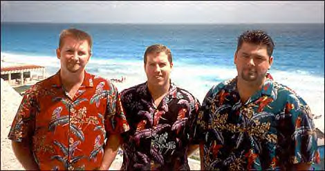 From left, David Lauterbach, Mark Higgins and Brian Bailey